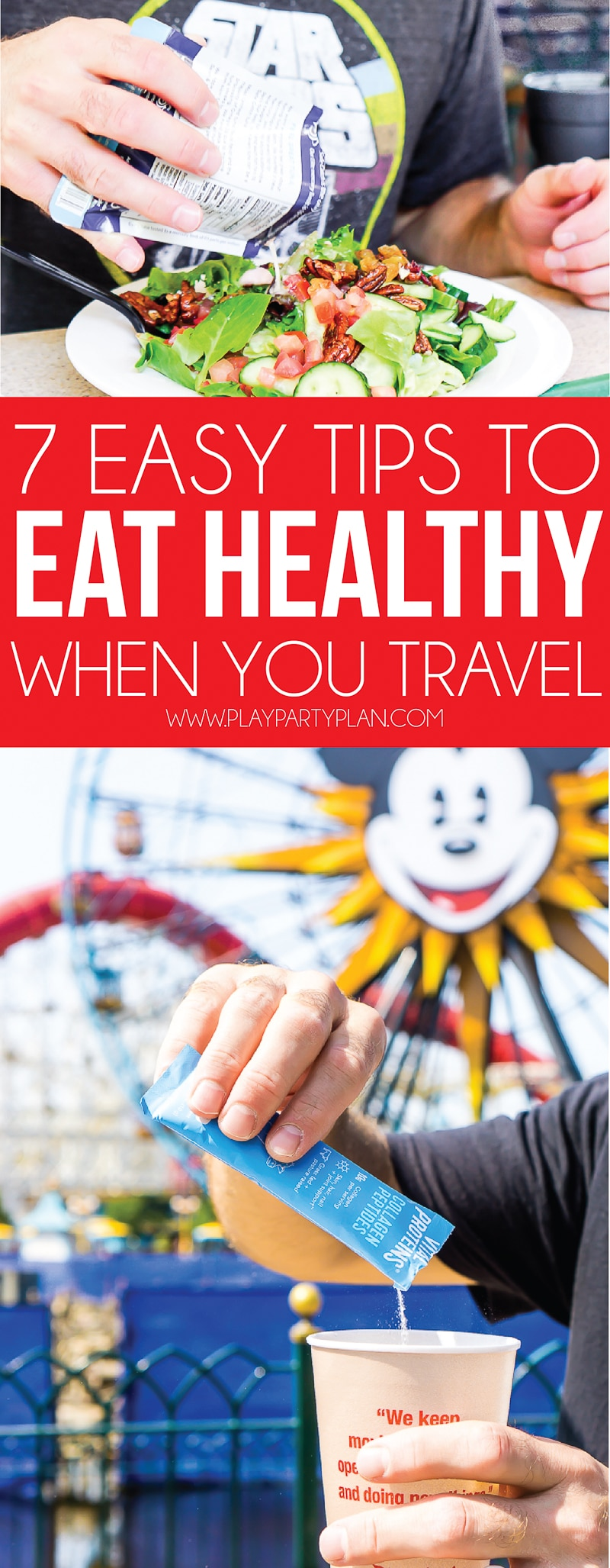 Tips for eating healthy while you travel! Great healthy snacks, tips for healthy travel, and even great ideas for getting more sleep!