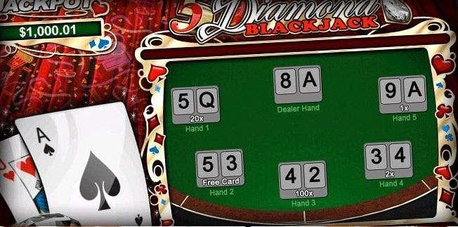 5 Diamond Blackjack game