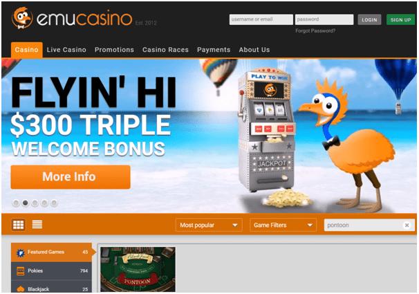 Emu Casino Pontoon
