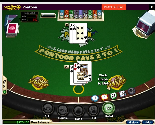How to play free Pontoon at online casinos?