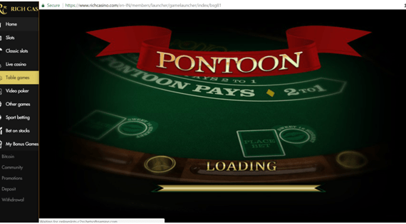 Play Pontoon with easy eight steps