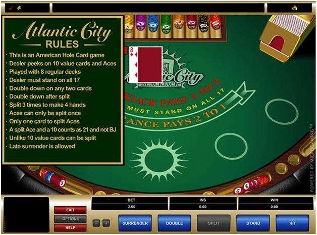 seven blackjack variants- Atlantic city