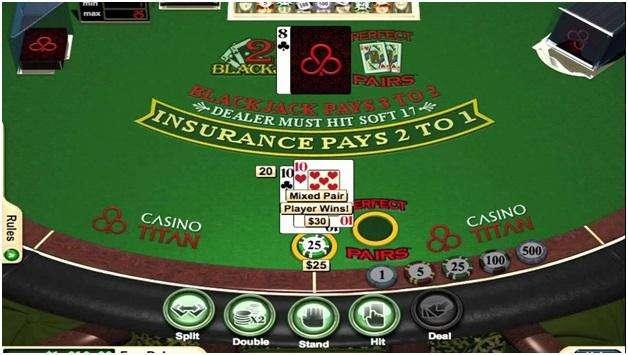 seven blackjack variants- perfect pairs