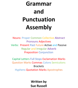 Grammar and Punctuation Assembly