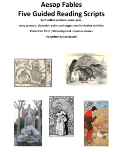 Aesop Fables Guided Reading Scripts