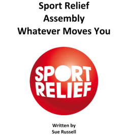 FREE Sports Relief Assembly