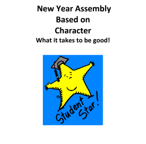 New Year School Assembly