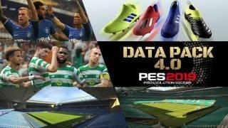 Le pack de données 4.0 disponible sur PES 2019