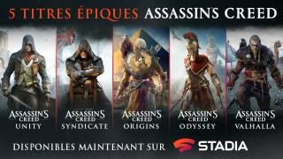3 anciens épisodes d'Assassin's Creed débarquent sur Stadia