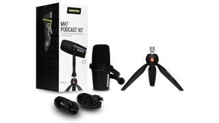Un kit spécial podcast pour le microphone Shure MV7