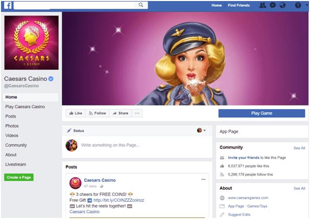 Caesars Casino Facebook