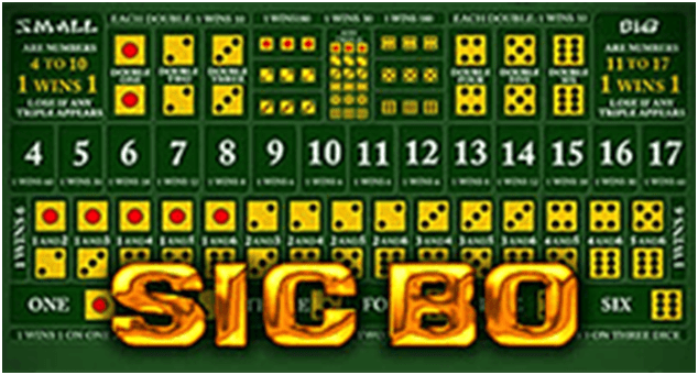 Sic Bo game to play with BTC