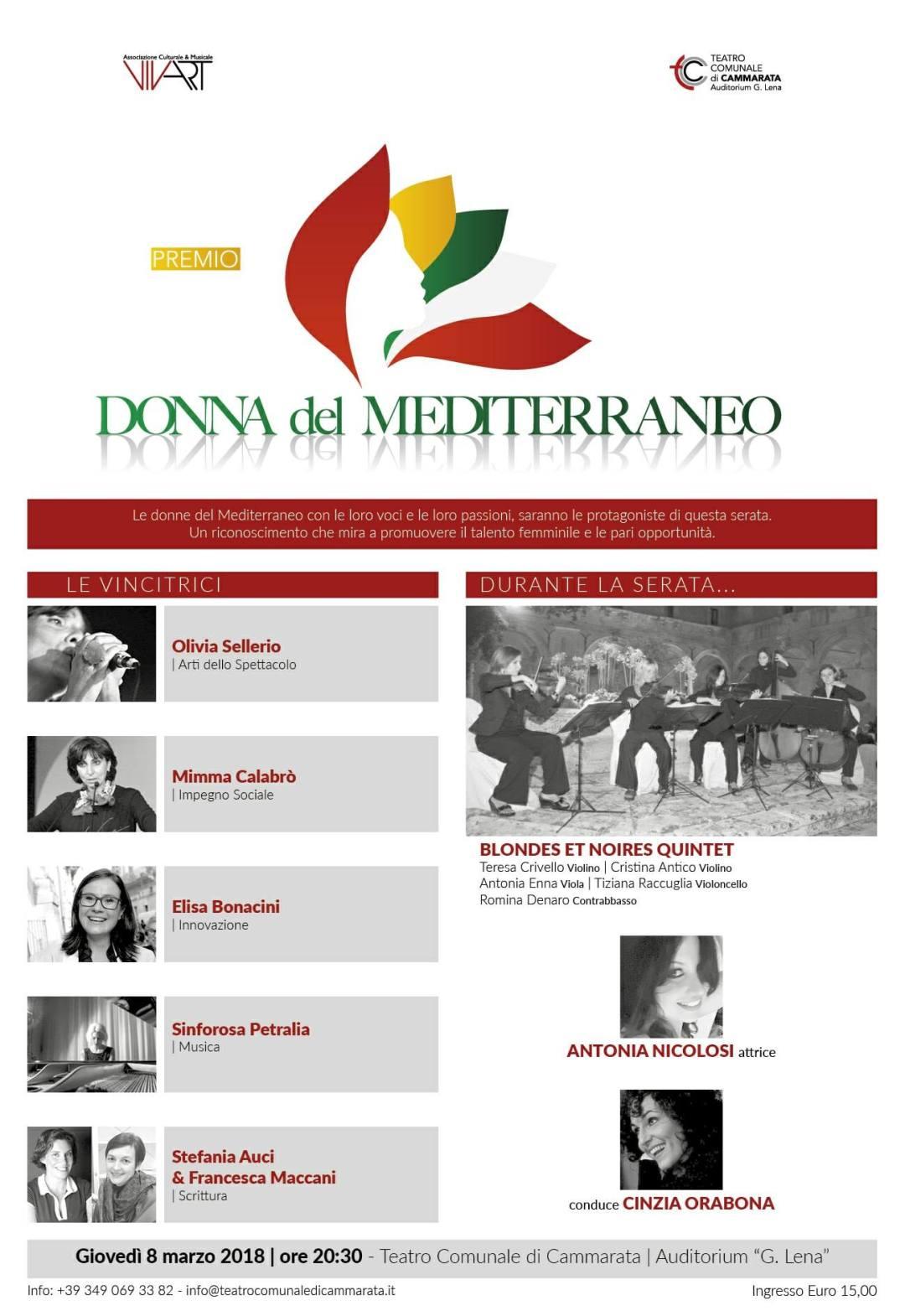 locandina donna del  mediterraneo