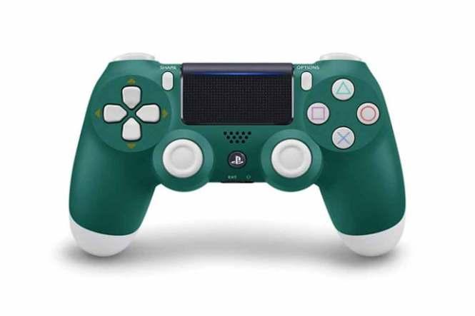 PlayStation gamepad zelený barevný