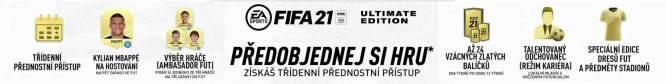 FIFA 21 bezplatný upgrade pro PS 5