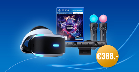 PlayStation VR + Camera + Move Controllers + VR Worlds nu voor €388,-