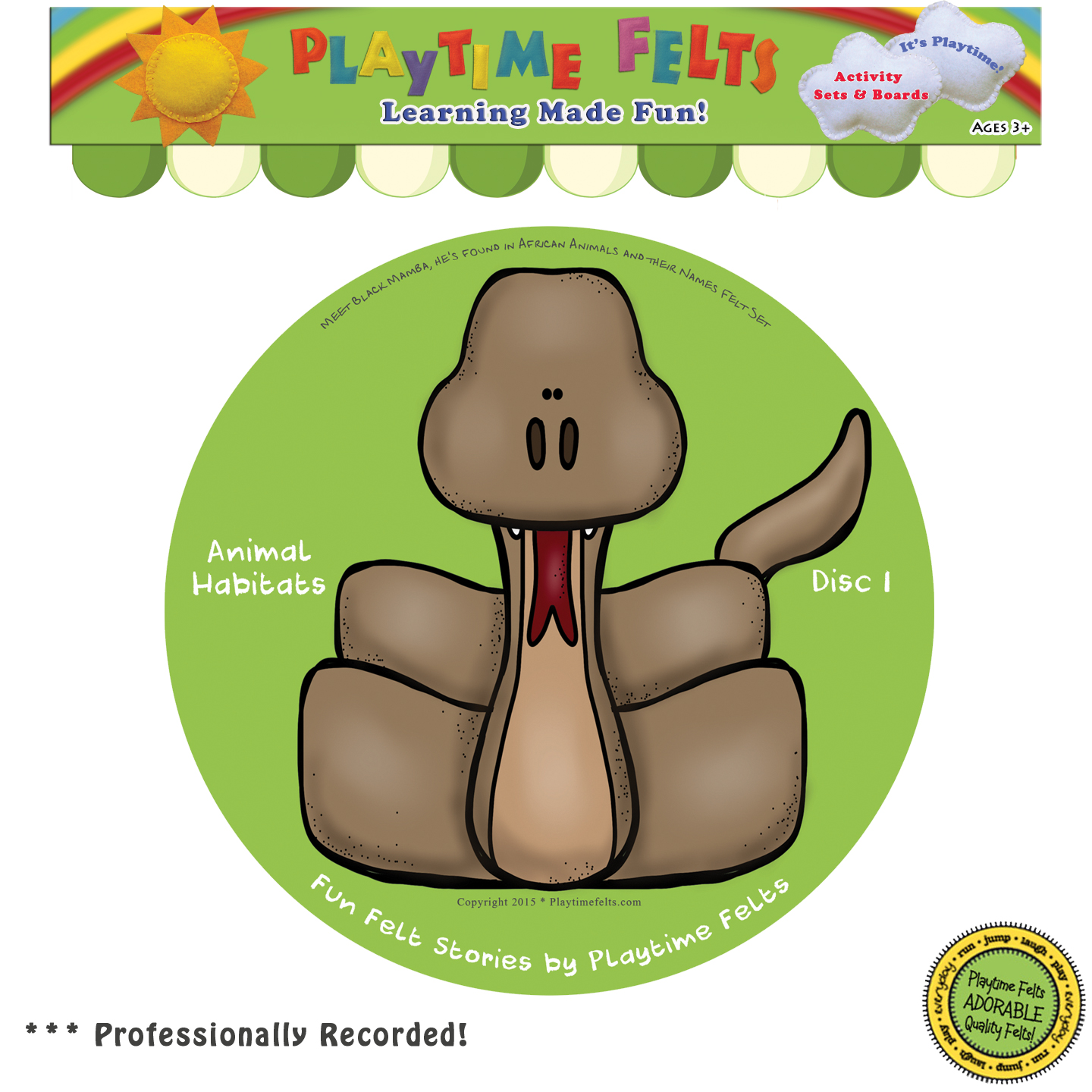 Animal Habitats Felt Board Stories On Audio Cd