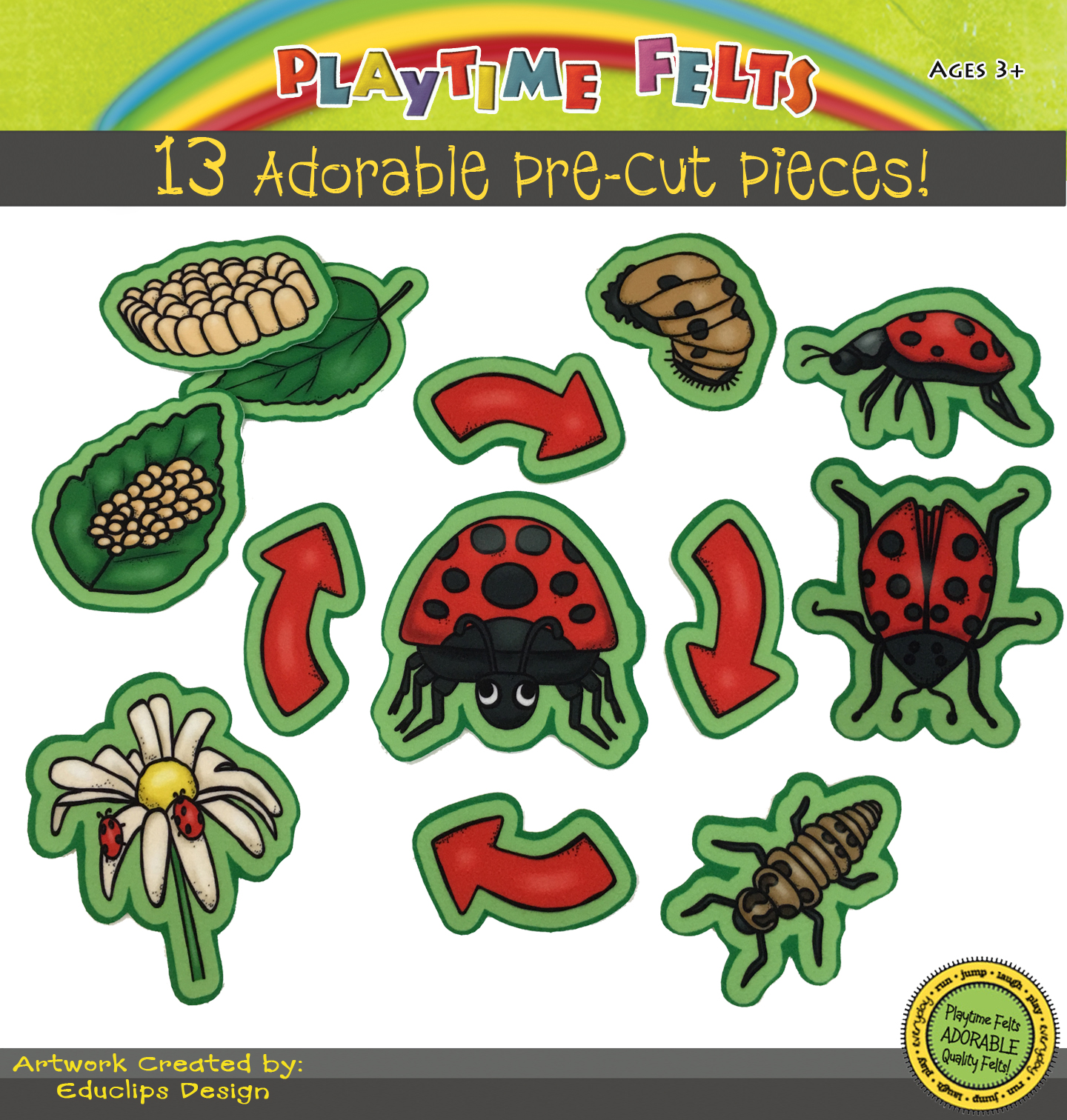 Ladybug Life Cycle Felt Board Story For Children