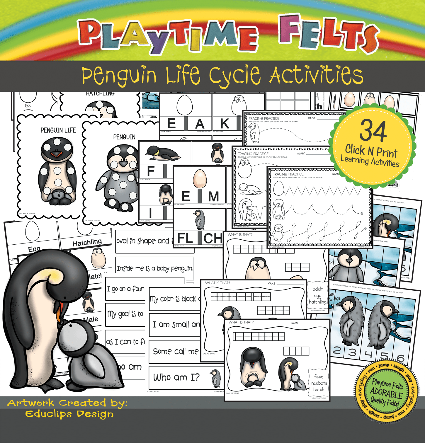 34 Penguin Printable Activities For Preschoolers And Kindergarten