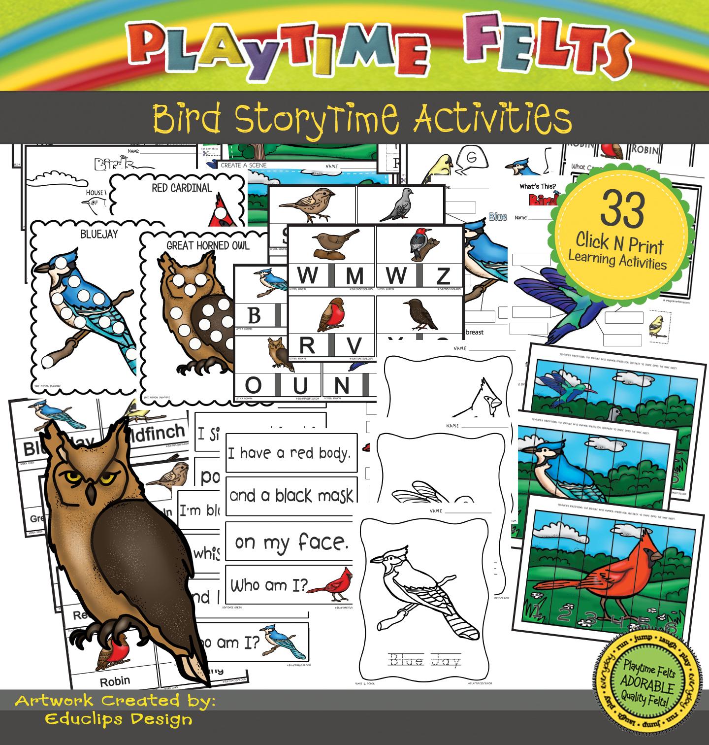Birds Prek Printables For Home Or Classroom Use