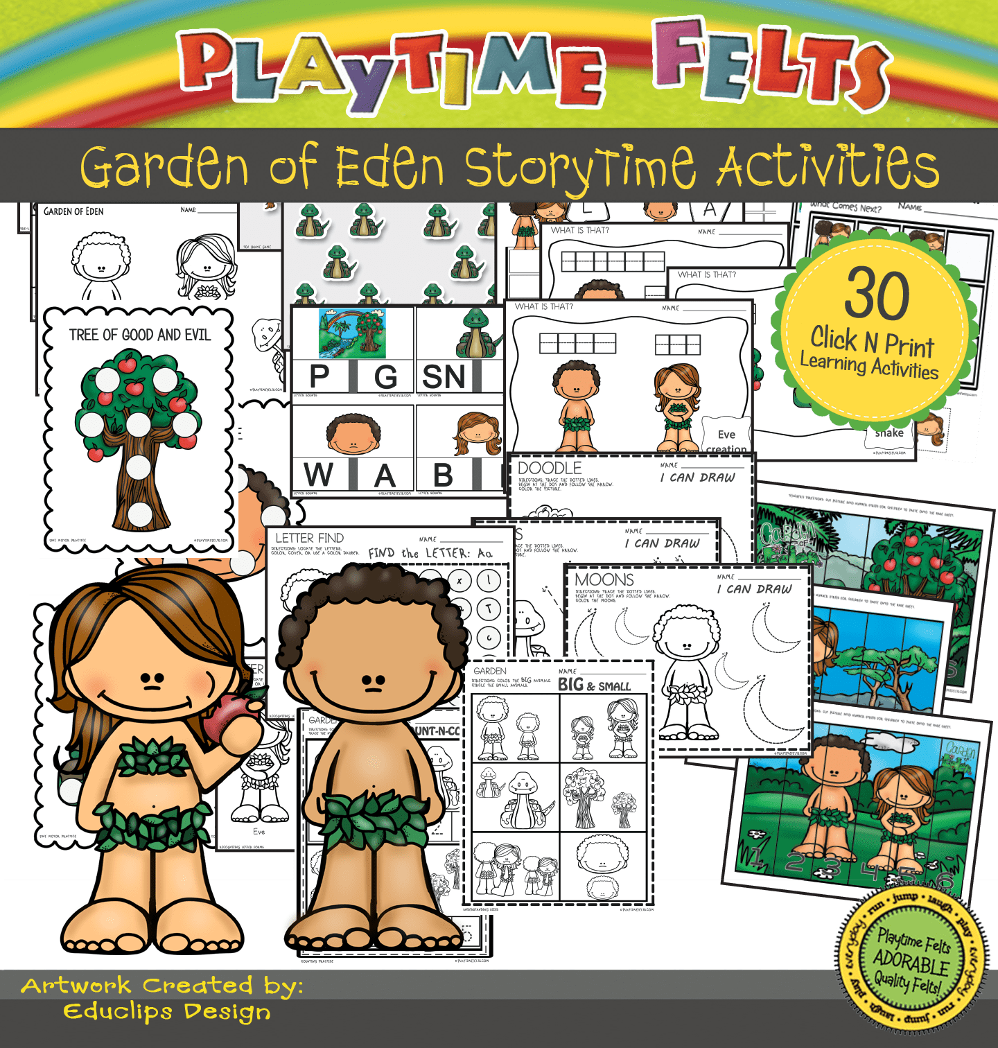 Garden Of Eden Storytime Activities For Preschool