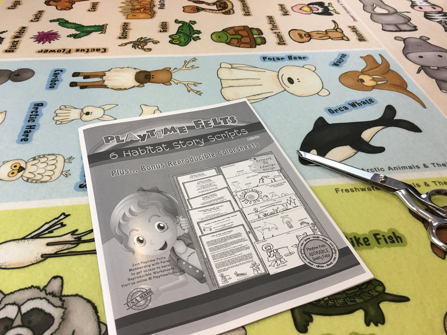 Animal Habitat Flannel Board Stories For Toddlers