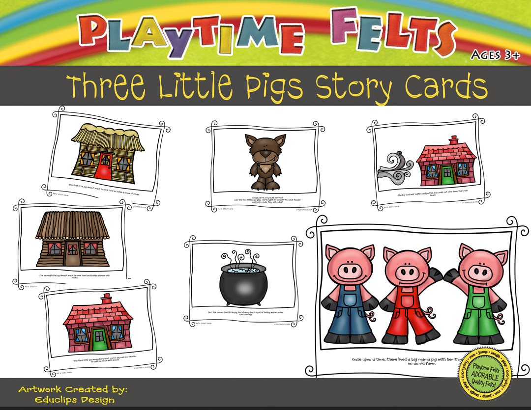 Three Little Pigs Printable Story Cards Digi Download