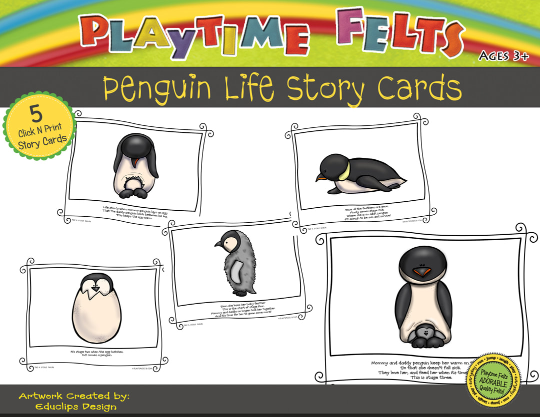 Penguin Life Cycle Printable Story Cards Digi Download