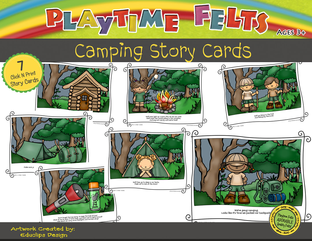 Camping Printable Story Cards Digi Download