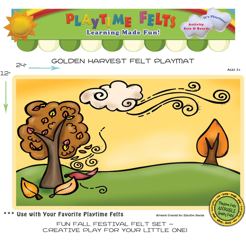 Golden Harvest Felt Playmat