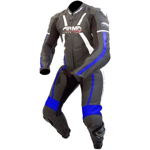 Armr Moto Harada R Leather Motorcycle Suit Black/Blue