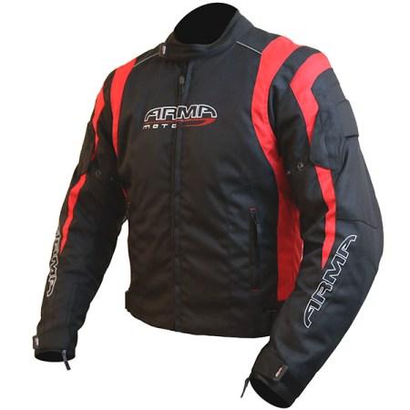 Armr Moto Ikedo 2 Motorcycle Jacket Black/Red