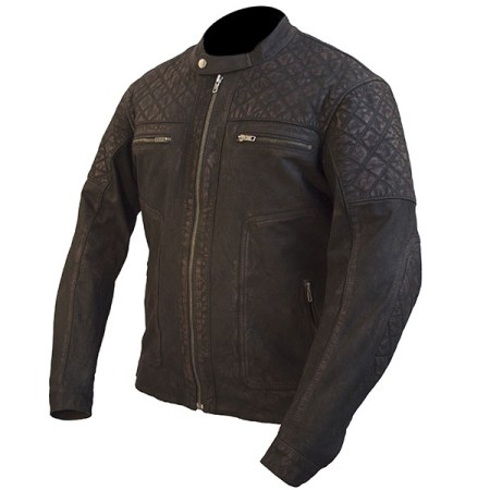 Armr Moto Retoro Classic Leather Motorcycle Jacket Brown