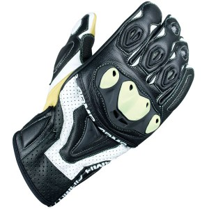 Armr Moto SHL445 Motorcycle Gloves Black/White