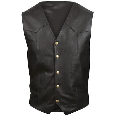 Buffalo Classic Leather Motorcycle Waistcoat
