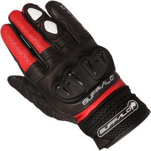 Buffalo Ostro Motorcycle Gloves Black/Red