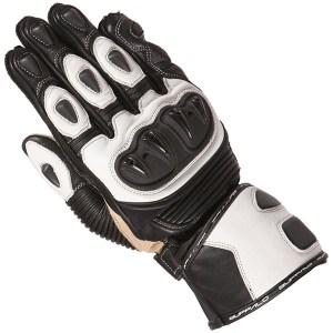 Buffalo Proton Motorcycle Gloves Black/White
