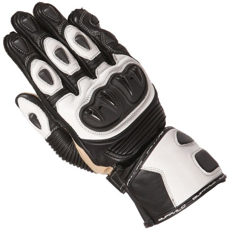 Buffalo Proton Motorcycle Gloves Black/White