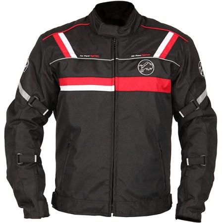 Buffalo Typhoon Motorcycle Jacket Black/Red