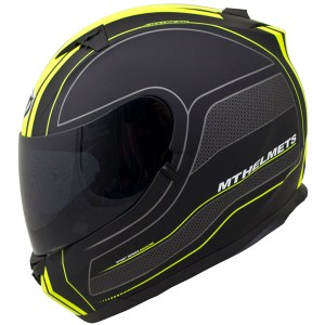 MT Blade SV Race Line Motorcycle Helmet Matt Black/Yellow