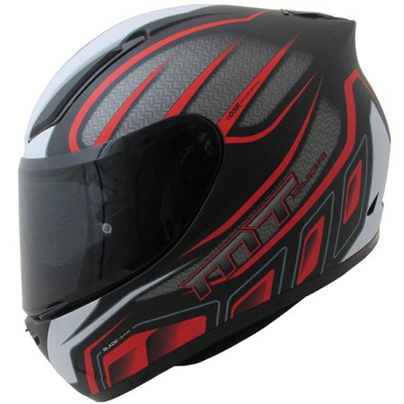 MT Revenge Alpha Motorcycle Helmet - Matt Black/Red