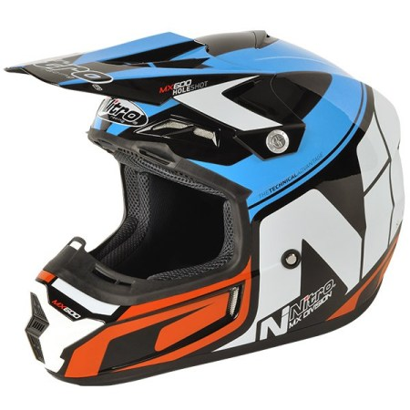 Nitro MX600 Holeshot Motocross Helmet Black/Blue