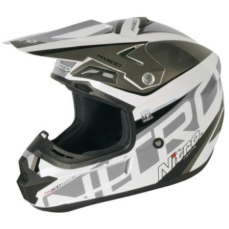 Nitro MX600 Rebound Motocross Helmet White/Gun