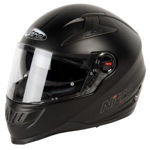 Nitro N2200 Uno Motorcycle Helmet Matt Black
