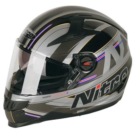Nitro N2200 Sterling Motorcycle Helmet Black