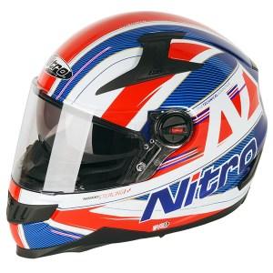 Nitro N2200 Sterling Motorcycle Helmet Blue