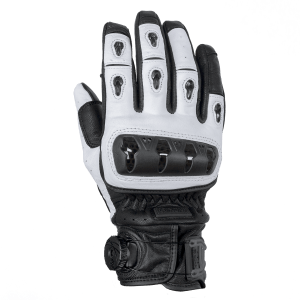Knox Orsa Leather Motorcycle Gloves White