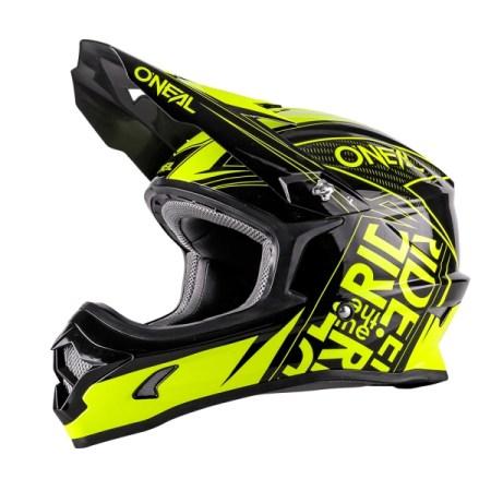 Oneal 3 Series Fuel Motocross Helmet Black/Yellow