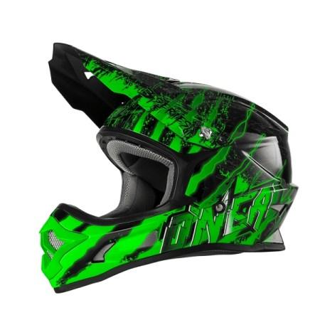 Oneal 3 Series Mercury Motocross Helmet Black/Green