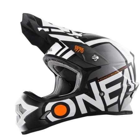 Oneal 3 Series Radium Motocross Helmet - Black